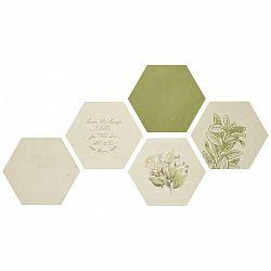 Obraz Hexagon, 5dílná Sada