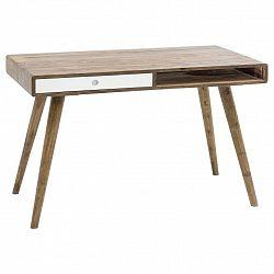 Psací Stůl Z Masivního Dřeva Repa Bílá