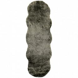 Umělá Kožešina Chrisi 2, 55/160cm, Šedohnědá